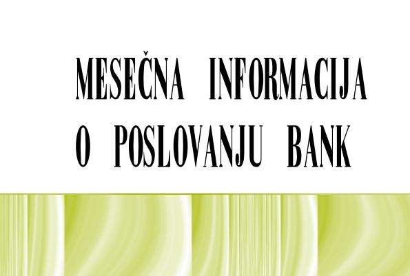 Mesečna informacija o poslovanju bank, september 2021