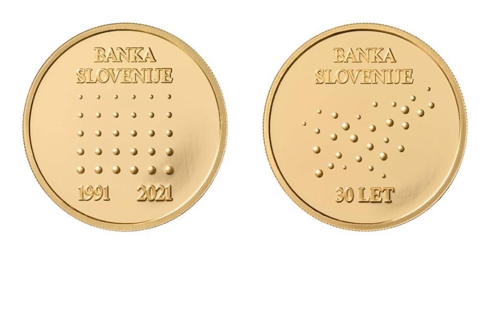 Ob 30. obletnici Banke Slovenije na voljo zlate in srebrne medalje; v prodajo tudi omejeno število medalj, izdanih ob 20. obletnici Banke Slovenije