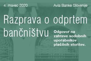 Vabilo na razpravo o odprtem bančništvu