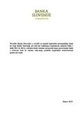 Poročilo Banke Slovenije za Državni zbor, marec 2015